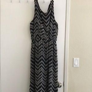 Cute long black and gray dress